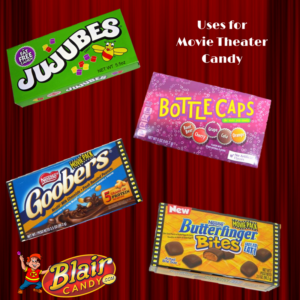 Movie theater candy isn't just for the movies. There are plenty of uses for this conveniently packaged treat aside from the obvious. Here are a few ways we like to use movie theater candy that you may not have thought of yet:   Gifts: Movie theater candy boxes are great for gift baskets or making the base to a candy bouquet. Your recipient will love the sweet, personal touch when you remember their favorite candy. These are also great stocking stuffers.   Road Trips: Lessen the clutter and keep messes down to a minimum with a box of candy rather than a plastic bag full. It also may keep your candy from melting from the hot temperatures in the car. If it doesn't, it should at least keep it from staining your car interior or clothes.   Lunches: A fast and easy way to provide a candy treat in your child's lunch is with a movie theater box. They are perfectly portioned and can fit right in their lunchbox. It can also fit into their backpacks for an afterschool snack that won't get squished flat.   Concession Candy: These are great for concession stands! They're easy to display, pack up, and move around from game to game. People will also love how convenient it  is to take the boxes with them and finish the candy later if they get too into the game.   There are plenty of uses for movie theater boxes of candy! Shop all of your favorite movie treats today at BlairCandy.com and find more ways to use these boxes.