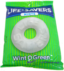 Green Bag of Wint O Green Lifesavers Mints | BlairCandy.com