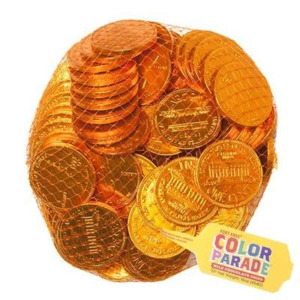 Netted Bag of Foil-Wrapped Chocolate Penny Candy | BlairCandy.com