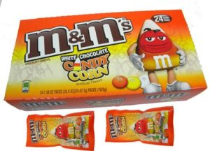 Box of White Chocolate Candy Corn M&M's | BlairCandy.com