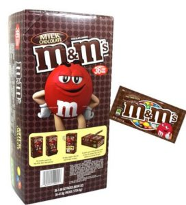 Box of M&M Packets | BlairCandy.com