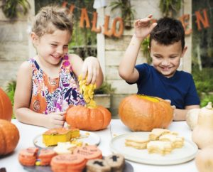 Children Enjoying Halloween Pumpkins | BlairCandy.com