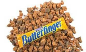 A Pile of Chopped Butterfinger Ice Cream Topping | BlairCandy.com