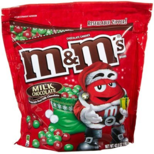 A Bag of Red and Green Christmas M&M's in Bulk | BlairCandy.com