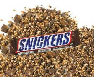 A Pile of Chopped Snickers Pieces for Toppings | BlairCandy.com