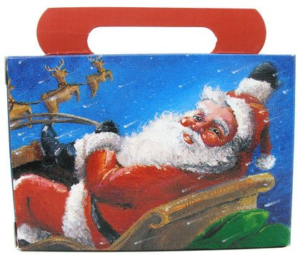 A Thin Cardboard Santa Claus Candy Gift Box | BlairCandy.com