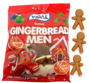 A Bag of Vidal's Gummi Gingerbread Men | BlairCandy.com