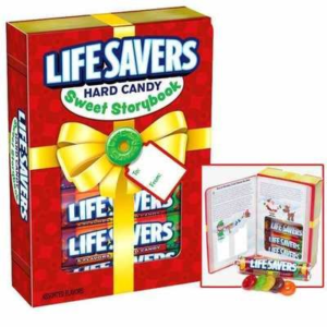 Box of Holiday Lifesavers Hard Candy with Book | BlairCandy.com