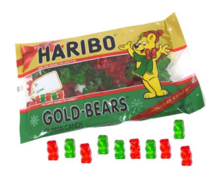 A Bag of Haribo Holiday Edition Gold Gummi Bears | BlairCandy.com