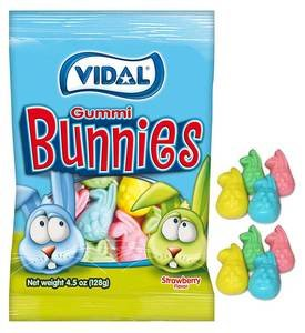 Bag of Vidal Gummi Bunnies as Easter Candy | BlairCandy.com