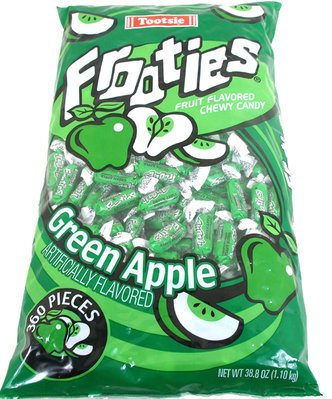 Bag of Frooties in Green Apple Flavoring | BlairCandy.com