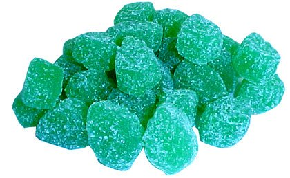 A Pile of Green Spearmint Leaves Jelly Candies | BlairCandy.com