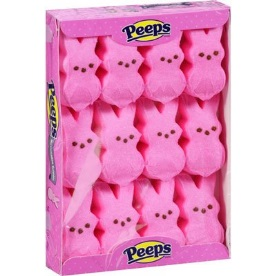 Tray of Pink Peeps Marshmallow Bunnies by Just Born | BlairCandy.com