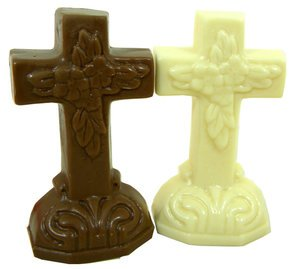 Milk Chocolate and White Chocolate Easter Crosses | BlairCandy.com