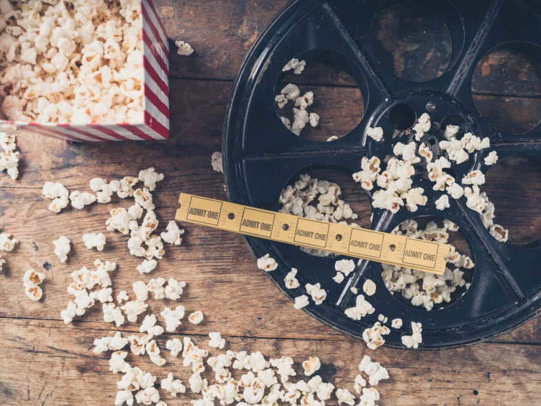popcorn, movie reel, and theater tickets | BlairCandy.com