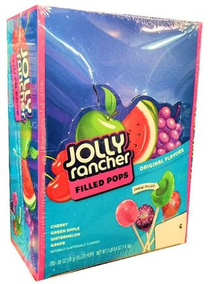 Box of Jolly Rancher Filled Pops | BlairCandy.com