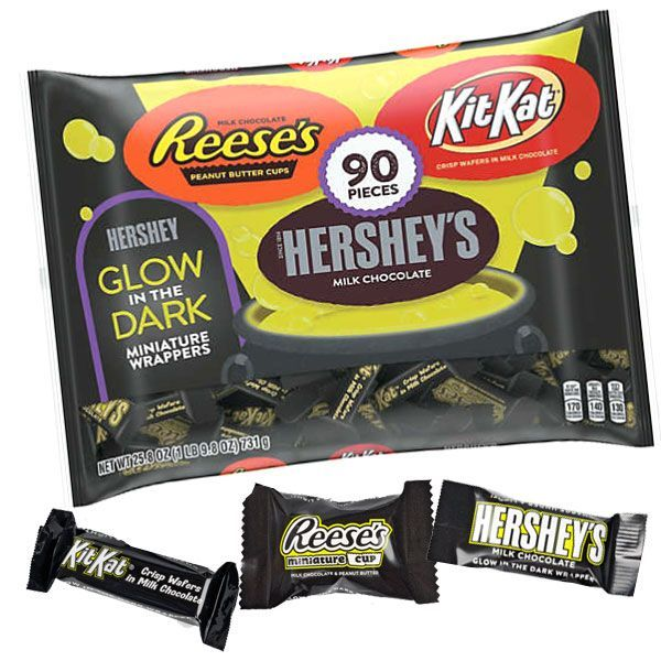 Hershey's Assorted Glow in the Dark Candy Bars | BlairCandy.com