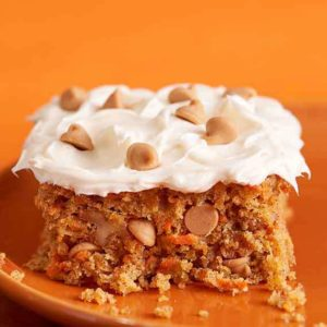 Carrot Cake with Reese's Peanut Butter Chips